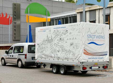 Stadtwerke Neuburg Anhänger Design