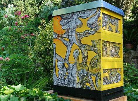 Bienenkasten in moderner Gestaltung