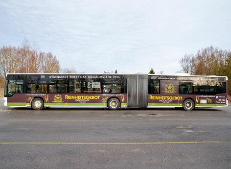 Werbung auf Stadtbus Ingolstadt