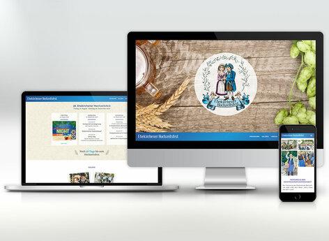 Die Internetseite in neuem, modernen Layout