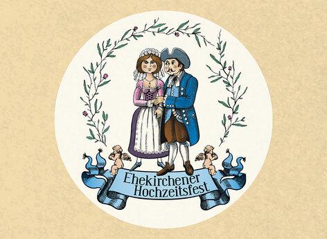 Das überarbeitete Logo für das Ehekirchener Hochzeitsfest