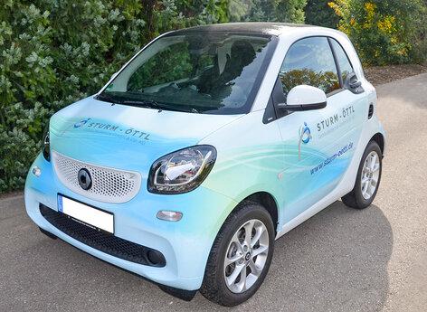 Car Wrapping auf Elektro Smart