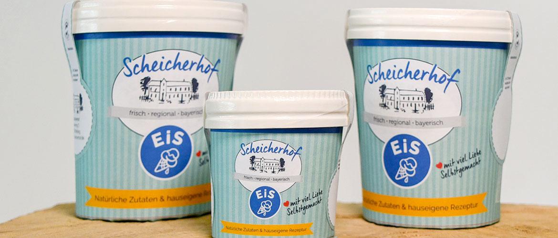 Grafik-Konzept für Eisdosen eines regionalen Lebensmittelherstellers