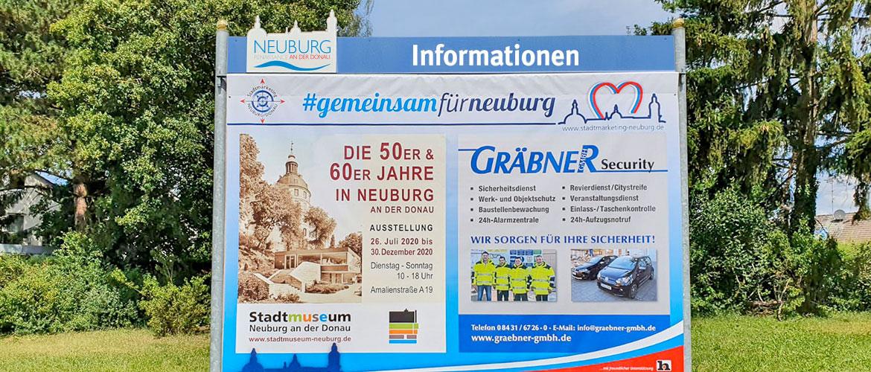 Werbeflächen auf Großplakaten in Neuburg