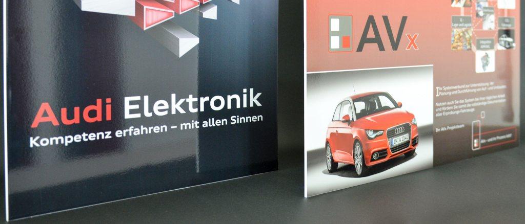 Werbeschilder und Displays für Audi