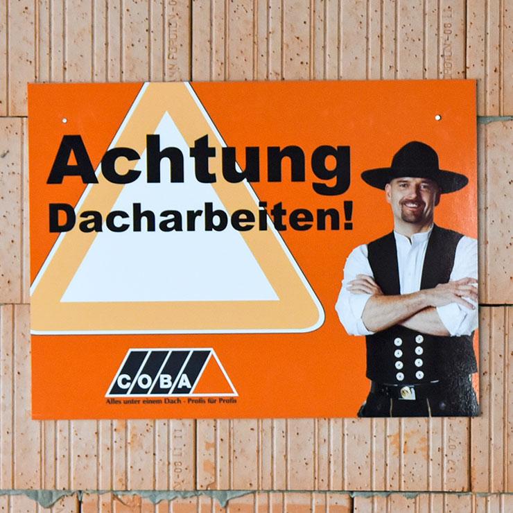 Schilder für Baustellenwerbung