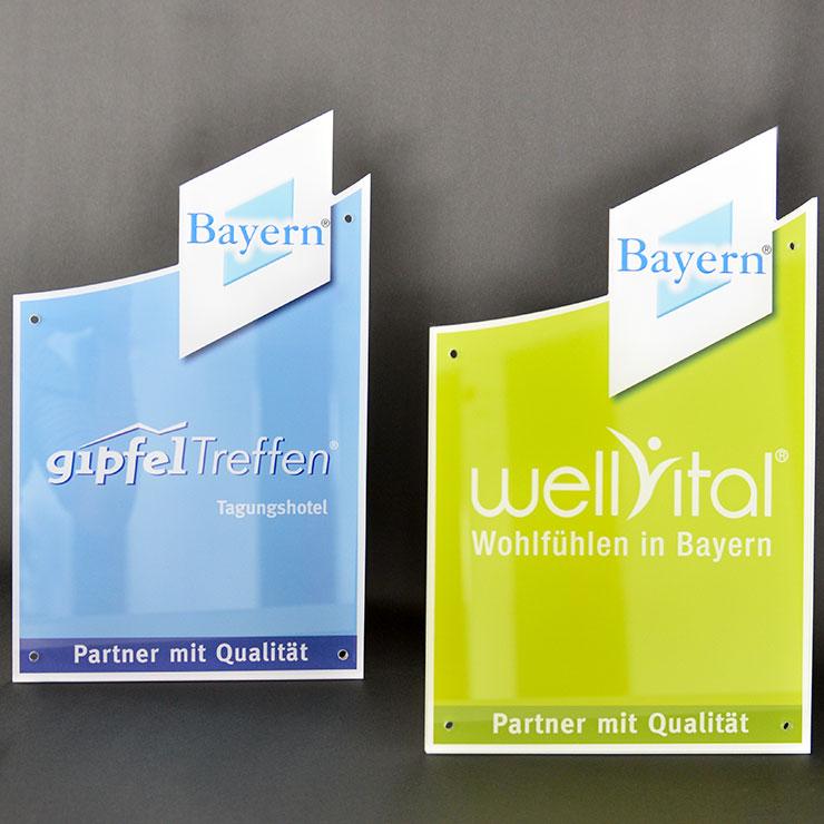 Schilder Plexiglas und Acrylglas
