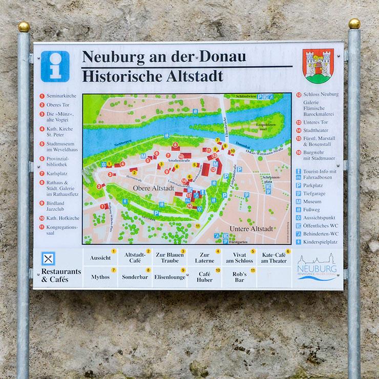 Übersichts Tafel für Stadt