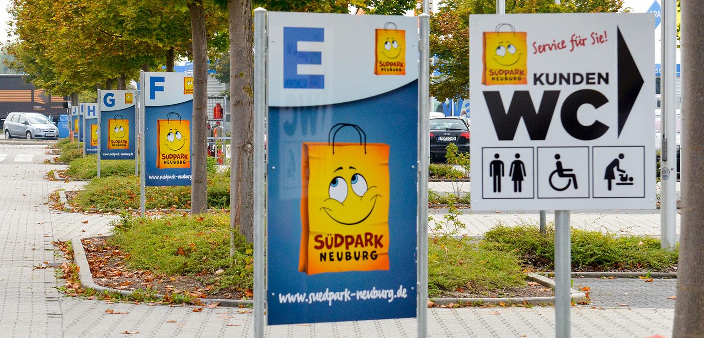 Parkleitsystem für Einkaufszentrum