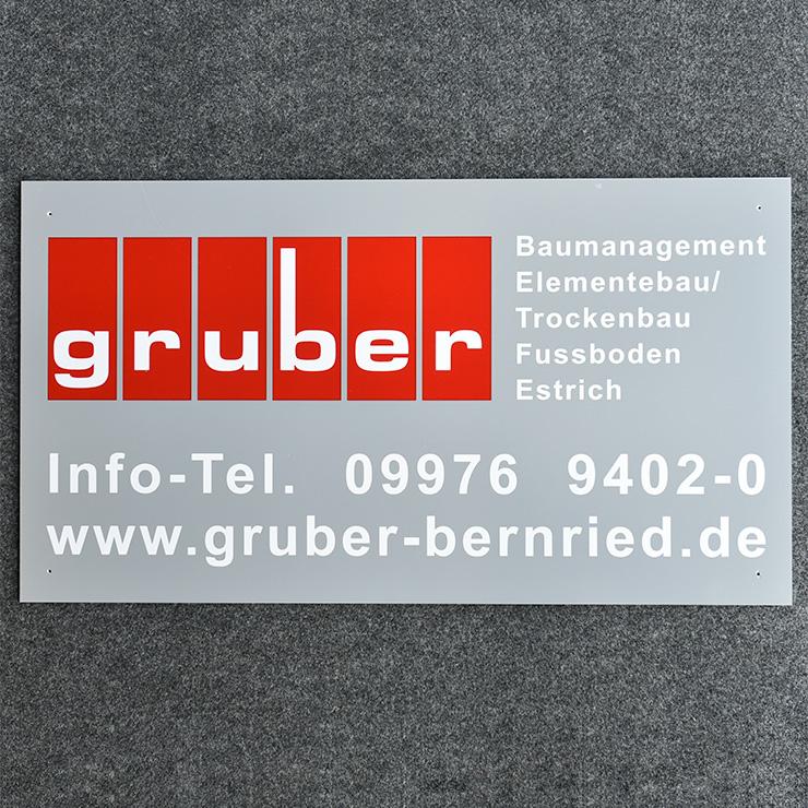 Siebdruck-Schilder für Baugewerbe