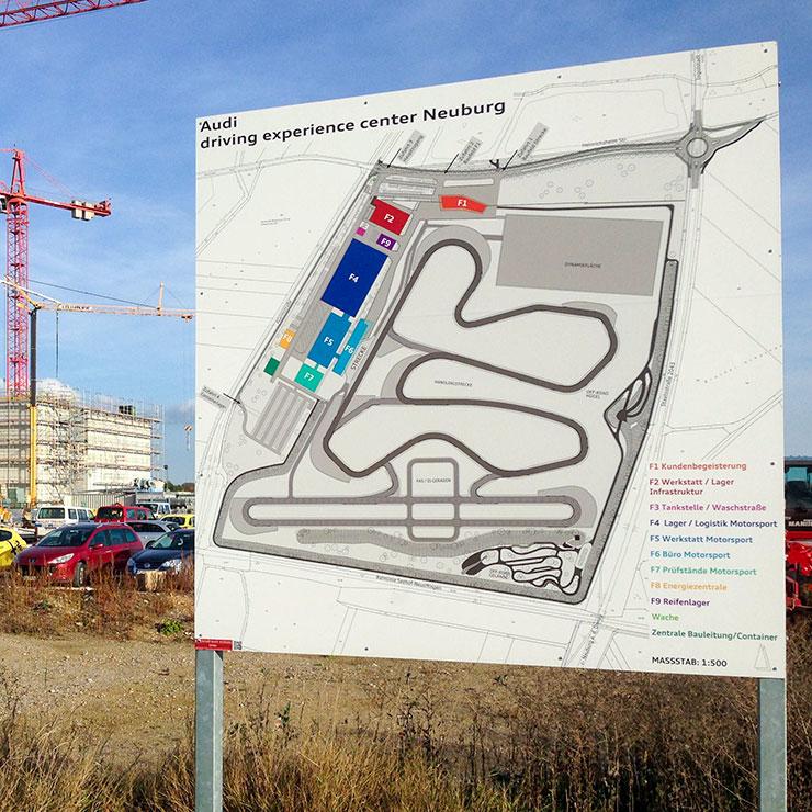 Übersichtstafel für Baustelle