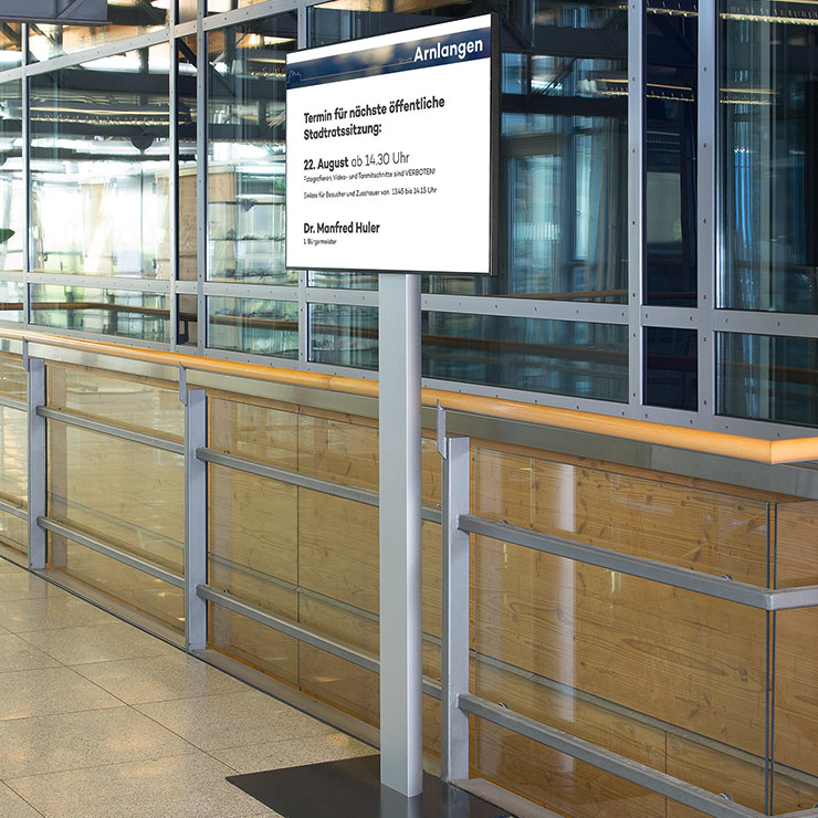 Indoor-Leitsystem für Behörden, Kongresse und öffentliche Einrichtungen