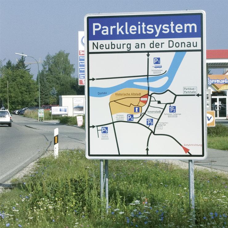 Parkleitsystem für Städte