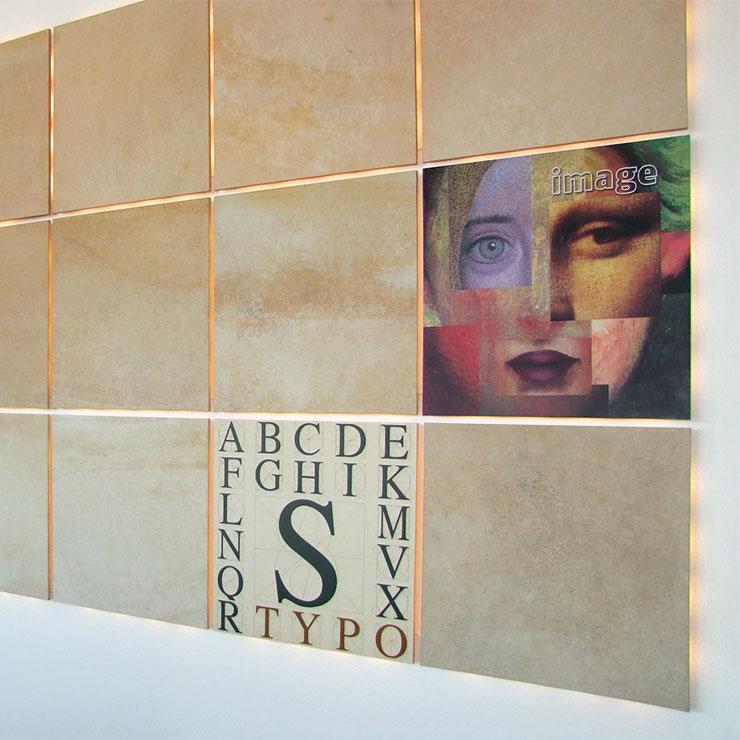 Wand-Dekoration aus Naturstein