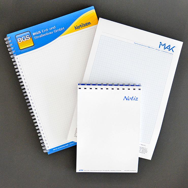 Papierblöcke für Werbung und Organisation