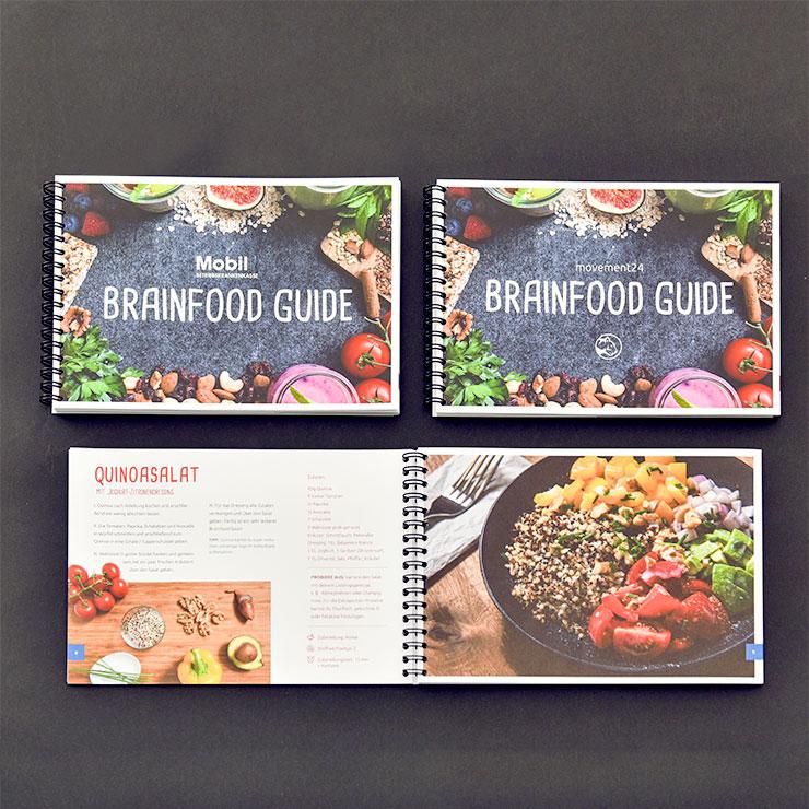 Kochbuch mit Spiralbindung in Querformat