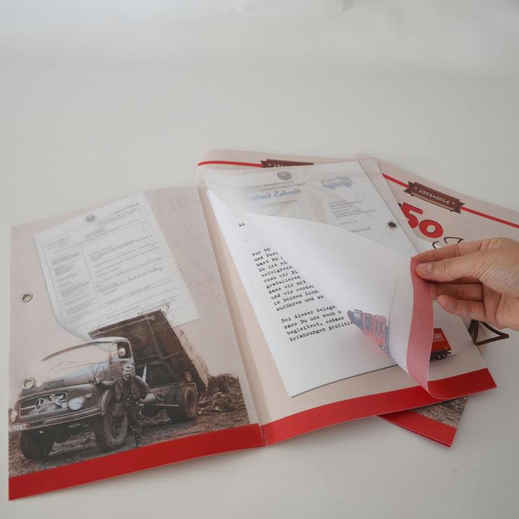 Dokumentationsmappe für Firmenjubiläum