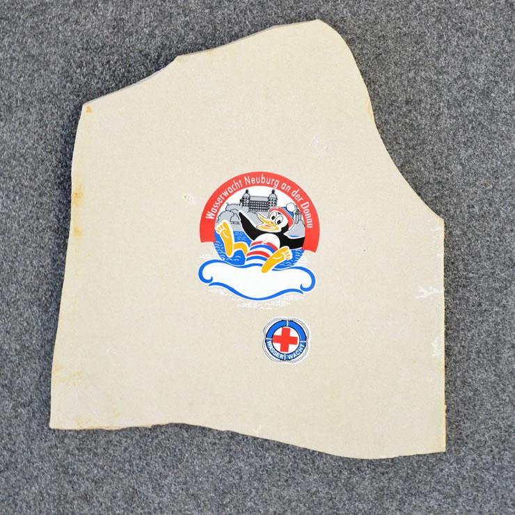 Urkunde aus Stein bedruckt mit Siebdruck