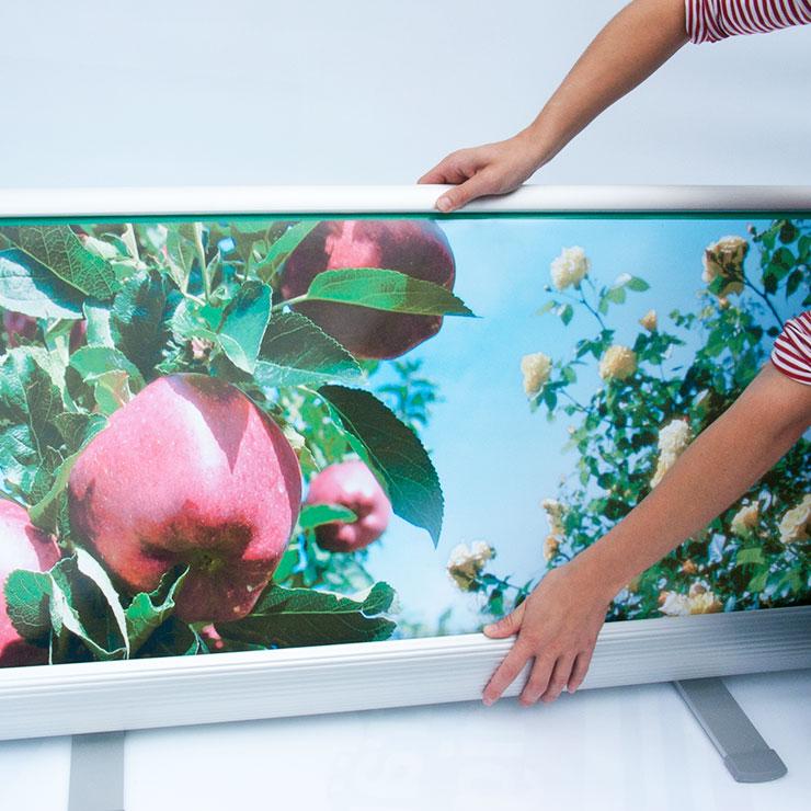Aufbau von Rollup Display