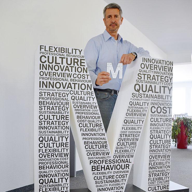 Typo-Skulptur für Motivationsveranstalltung