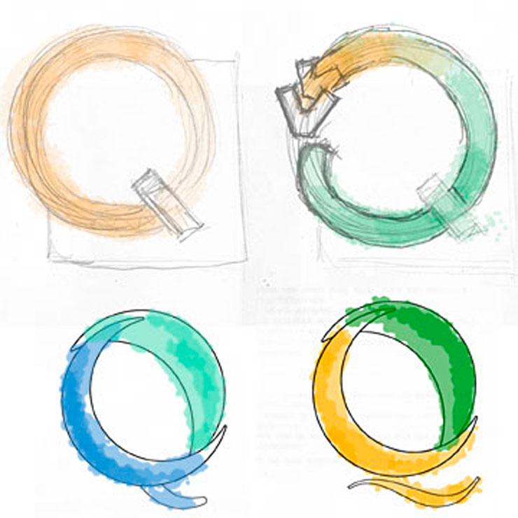 Logoentwicklung farblich ausgestaltet