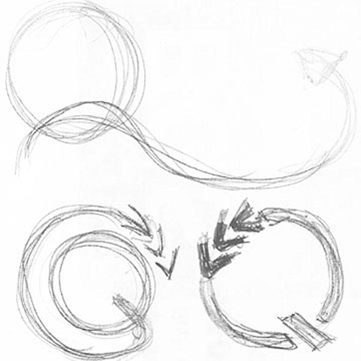 Logoentwicklung auch in Handzeichnung