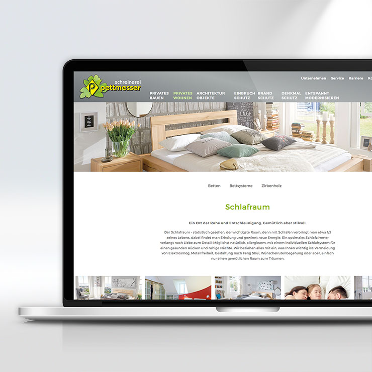 Moderne und ansprechende Gestaltung einer Website