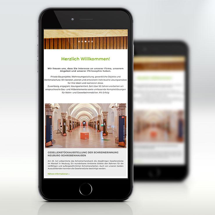 Responsive Webdesign auf Smartphone