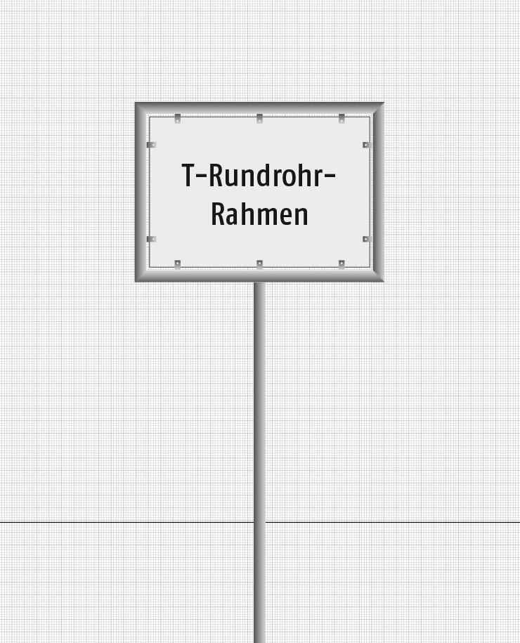 T-Rundrohr-Gestelle