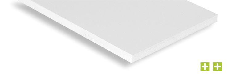 Integralhartschaumplatte - Extrudierte PVC-Platte mit geschäumtem Kern, leicht, stabil, schlagzäh, lichtecht, feuchtigkeitsresistent